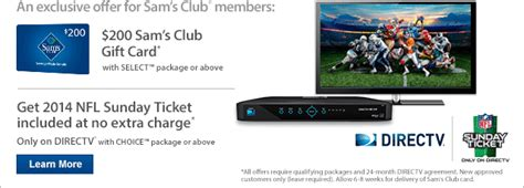 Sam S Club Directv Gift Card Offer - sam s club get ready for kickoff milled