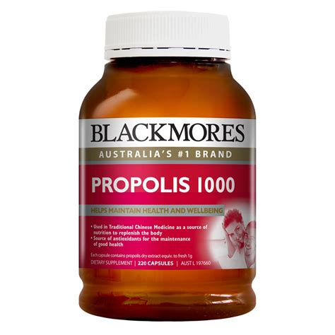 Blackmore Propolis Propolis 1000mg buy propolis 1000mg 220 capsules by blackmores