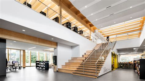 Mercier Library by Nordic Structures Nordic Ca Engineered Wood Projects
