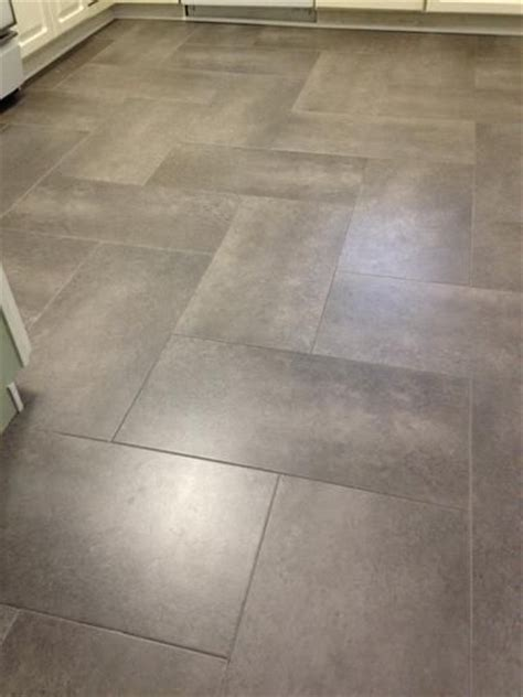 Sticky Tiles For Kitchen Floor by Herringbone Peel And Stick Tiles Before V After