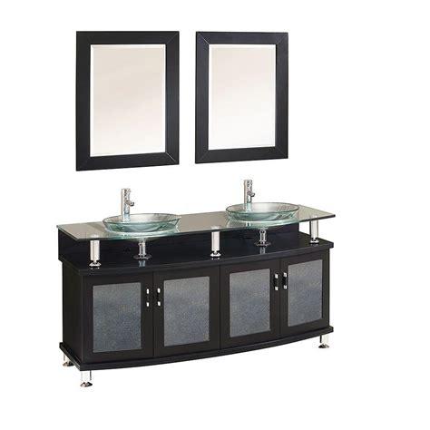 Glass Vanity Tops Fresca Contento 60 In Vanity In Espresso With Glass Vanity Top In Espresso With Clear
