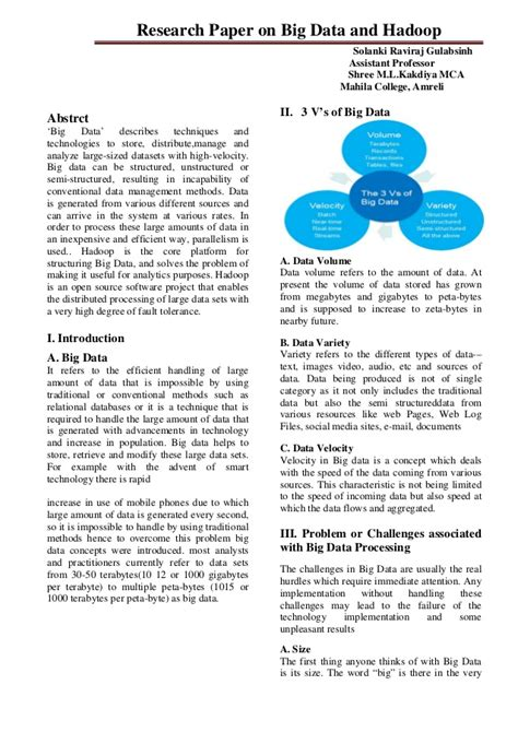 research paper on hadoop research paper on big data and hadoop