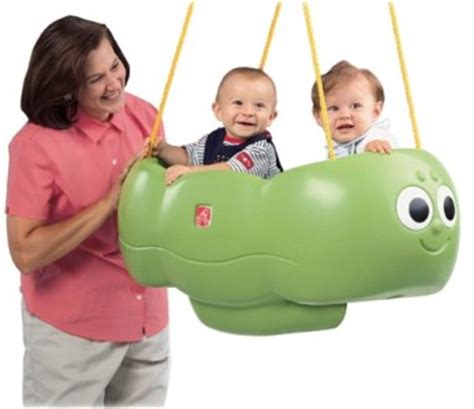 double baby swing step 2 caterpillar double twin baby swing for two ebay