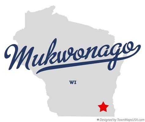map of mukwonago wi wisconsin
