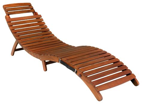 Lisbon Folding Chaise Lounge Chair Contemporary