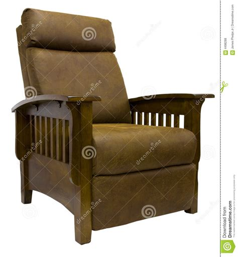 lazy boy mission style recliner mission style leather reclining chair royalty free stock