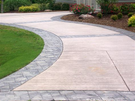 Patio Pavers Brands Brand New Refinished Concrete Driveway With Decorative