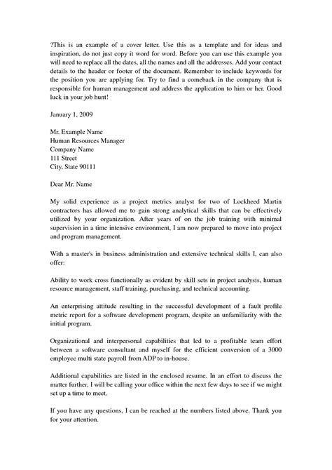 cover letter for business administration the letter sle