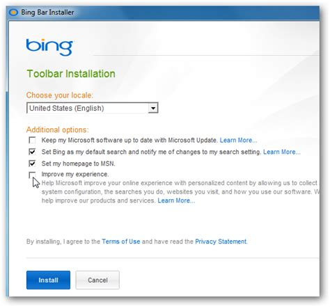 bing bar bing browser toolbar mit msn news und the new bing bar provides easy access to searches and