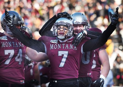 montana grizzlies football i aa fcs college football photos griz survive first round playoff scare