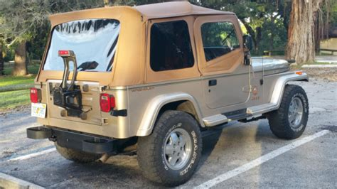 automotive air conditioning repair 1994 jeep wrangler auto manual jeep wrangler suv 1994 chagne tan for sale 1j4fy49s6rp425459 jeep wrangler yj sahara edition