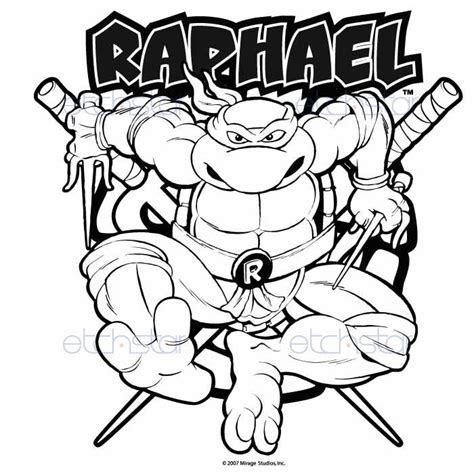 free coloring pages of raphael name