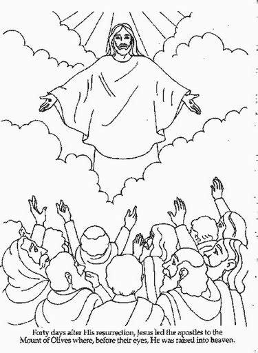 coloring pages jesus goes to heaven escolinha b 237 blica da garotada trabalhinhos para colorir
