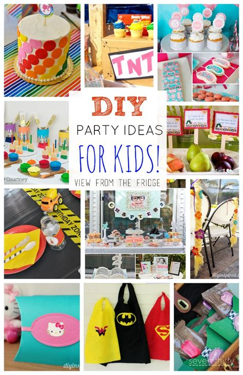 party themes diy the ultimate diy kids birthday party idea round up