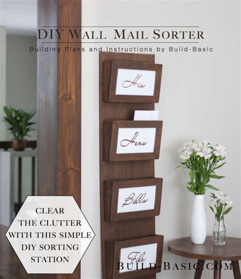 build  diy wall mail sorter build basic