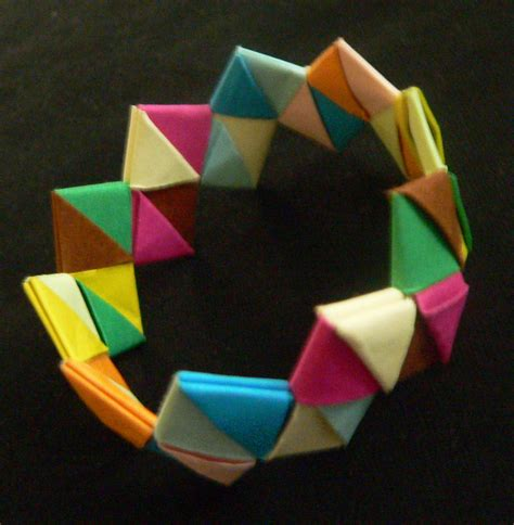 How To Make A Paper Wristband - origami bracelet 183 a paper bracelet 183 jewelry