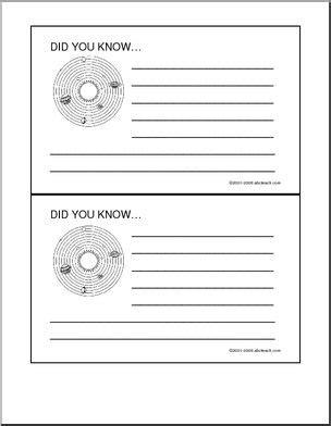 solar system fact cards template did you solar system abcteach