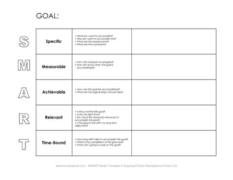 performance and layout page 2 smart goals template random things pinterest goals