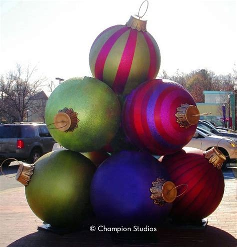giant christmas ornaments decoration in nyc pre order fiberglass ornaments for 14 today chion studios