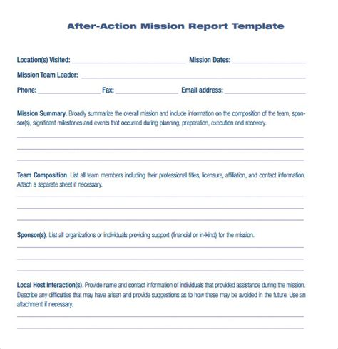 sle after action report template 6 documents in pdf