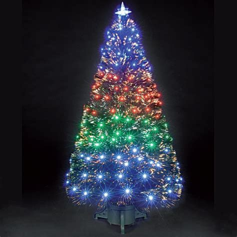 fibre optic christmas trees for a sparkling and shimmering