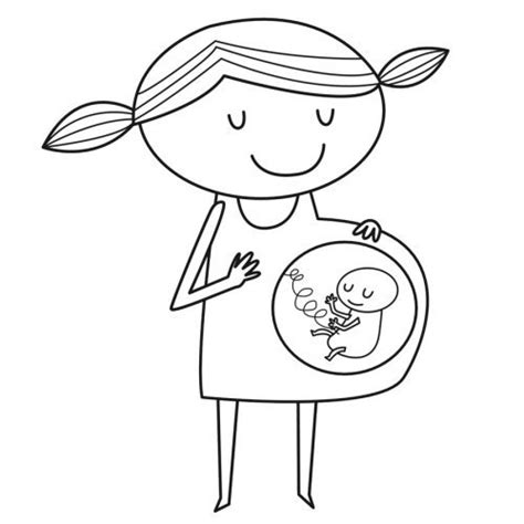 imagenes para pintar embarazadas dibujo para imprimir y pintar de una mam 225 embarazada