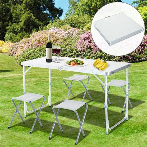 sgabelli in alluminio tavolo tavolino pieghevole da ceggio picnic 120x60cm
