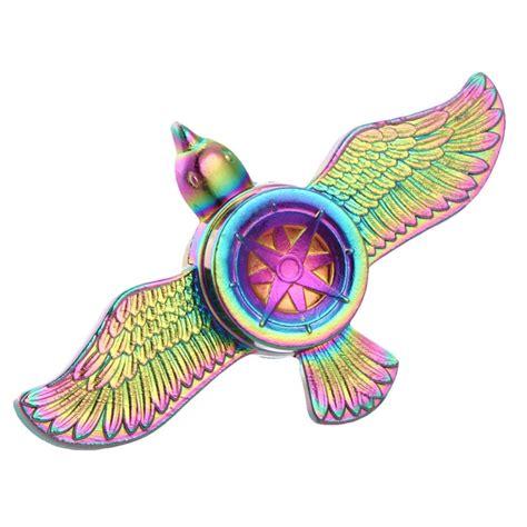 rainbow fly eagle fidget spinner metal finger spinner
