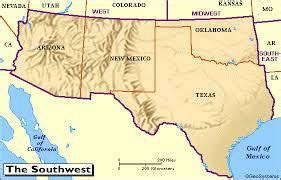 arizona texas map southwest united states arizona new mexico texas oklahoma world foods cultures