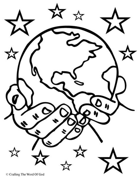 coloring pages creation earth creation 171 crafting the word of god