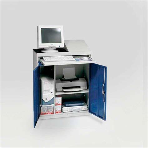 Workshop Computer Cabinet by Compact Computer Workstation Aj Products