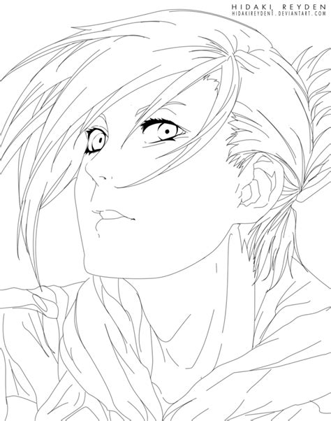 heart attack coloring page annie leonheart attack on titan lineart by hidakireyden1