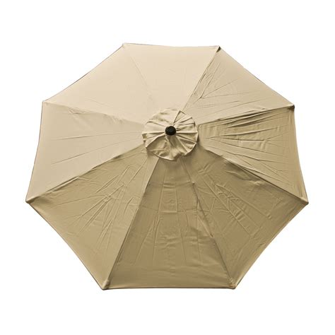 Patio Market Outdoor 9 Ft 8 Ribs Umbrella Cover Canopy Tan Patio Umbrella Canopy Replacement