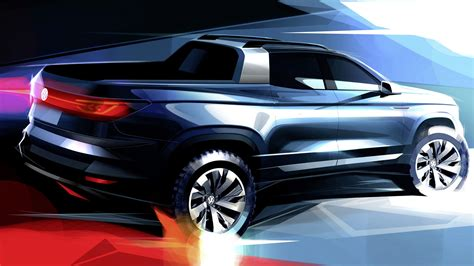 vw compact pickup concept teased previews