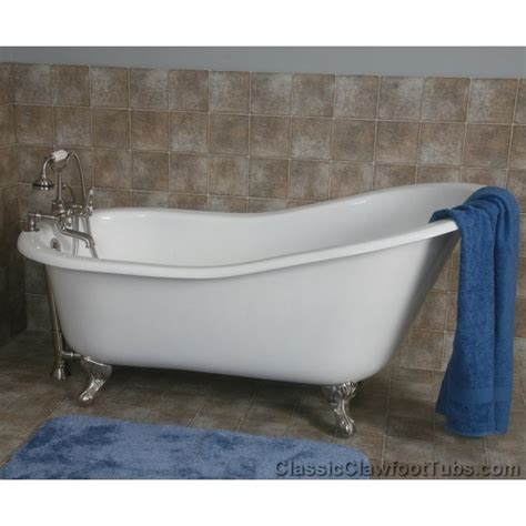 cast iron bathtubs 61 quot cast iron slipper tub w ball claw feet classic