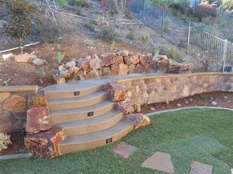 backyard retaining walls retaining and landscape wall san marcos ca photo