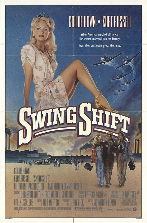 Swing Shift 1984 Original Movie Poster Fff 25594 Fff