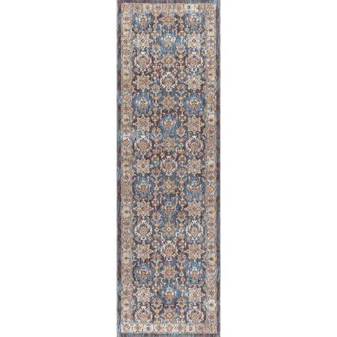 11 ft runner rug tayse rugs fairview brown 2 ft 3 in x 11 ft runner fvw3408 2x11 the home depot