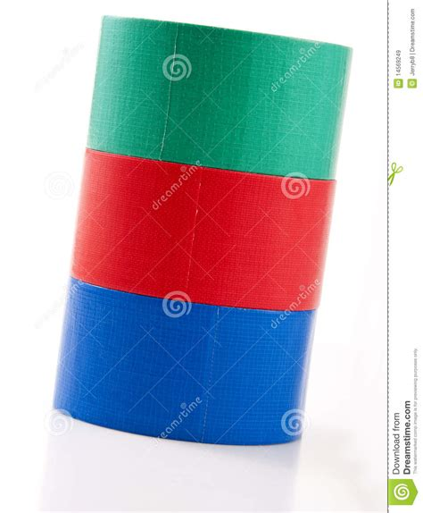 colorful duct colorful rolls of duct royalty free stock images