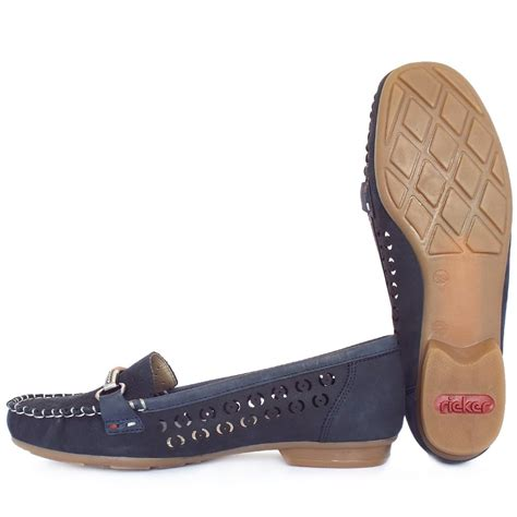 womens navy suede loafers rieker yasmin s breathable loafers in navy suede