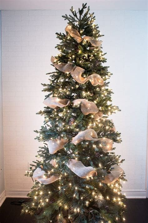 how to put ribbon on a christmas tree vertically best