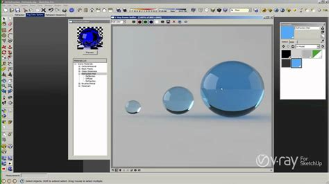 vray sketchup chrome tutorial v ray for sketchup materials the refraction layer