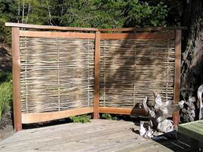 How To Create Privacy On A Patio by Bamboo Privacy Screen Cedar Sustainable Woodwork