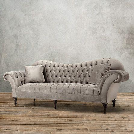 arhaus club velvet sofa club 96 quot tufted upholstered sofa in arabella ash