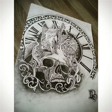 clock drawing pencil art on instagram