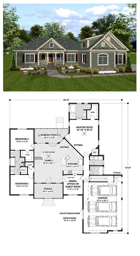 Small House Plans View Lot Craftsman House Plan 92385 Total Living Area 1800 Sq Ft