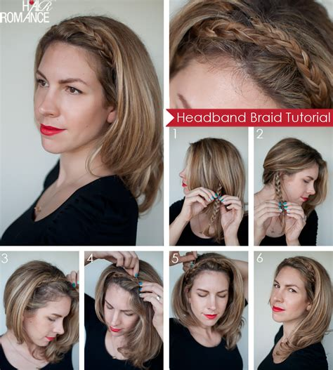 how to braid short hair step by step hairstyle tutorial easy braided headband hair romance