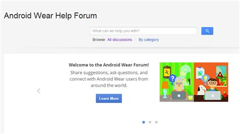 launched its official android wear help forum