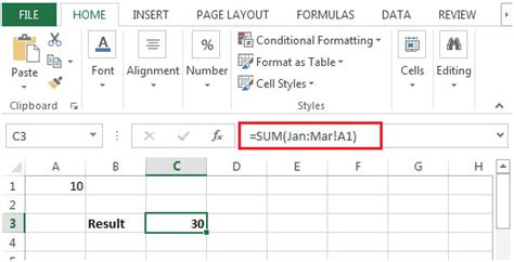 how to sheets sum across sheets in microsoft excel microsoft