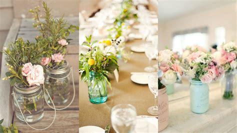 floreros con mason jars decoraci 243 n con tarros mason jars
